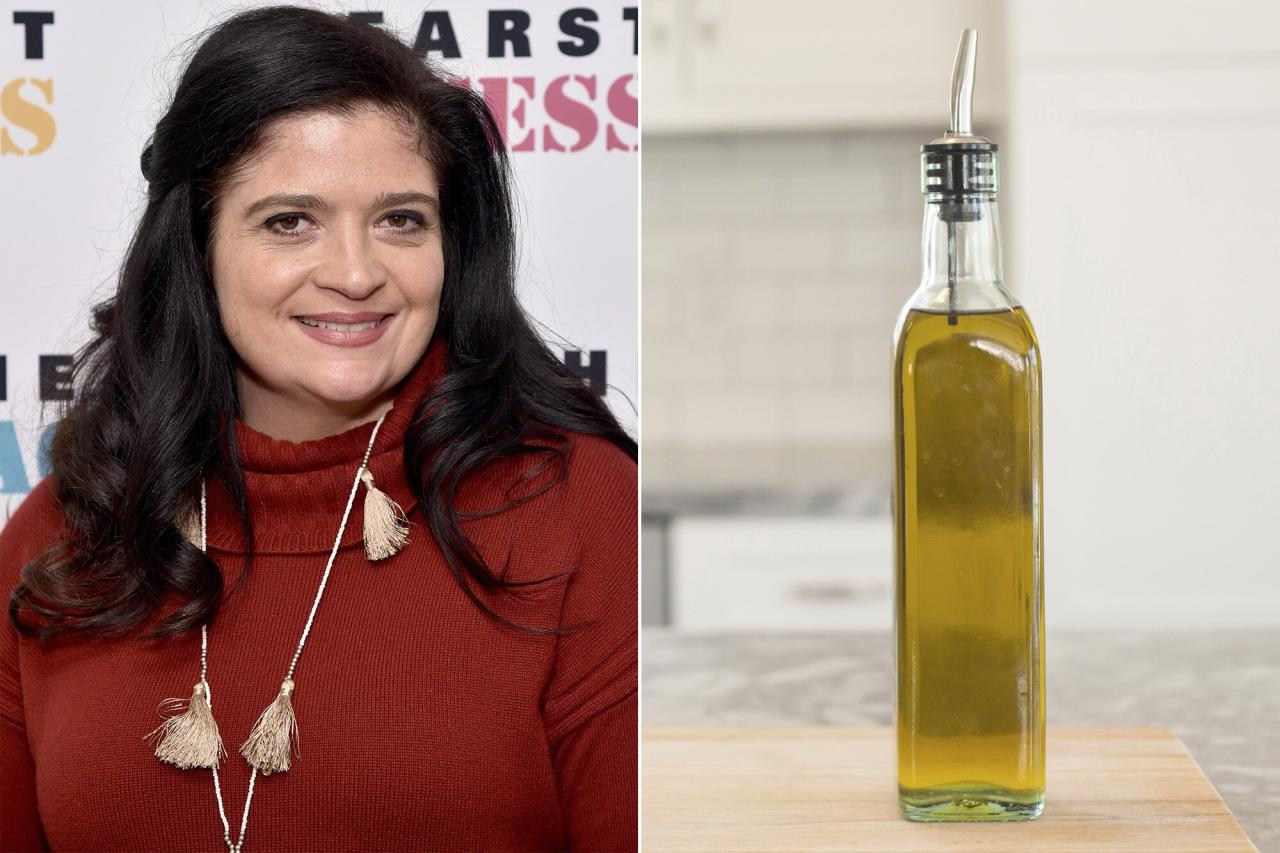 """<strong>To Keep Olive Oil Fresh</strong>  """"Store it in the fridge! Olive oil is expensive and gets rancid easily, so don't leave your bottle on the stove. Each time you heat up the stove or oven, the oil heats and cools too—making it spoil faster. """"  —Alex Guarnaschelli, judge on <em>Chopped</em>"""
