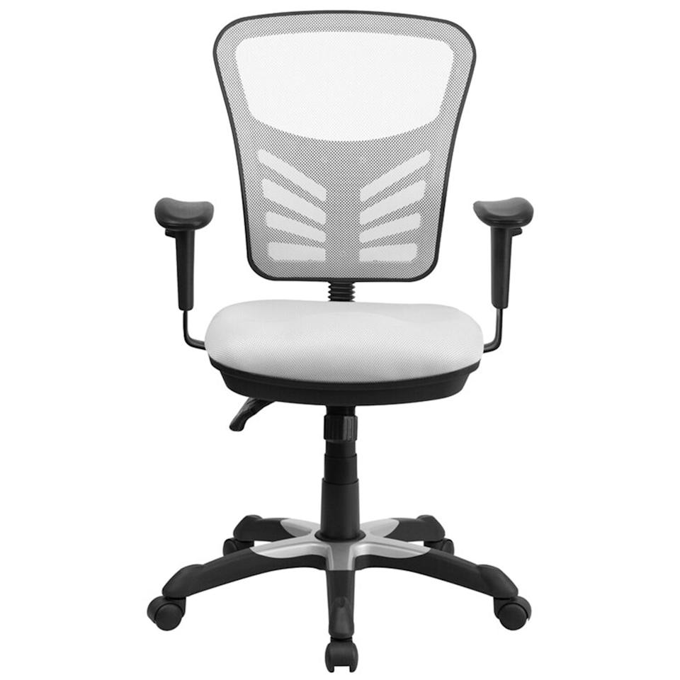 "<p>With an impressive 4.7-star rating and over 3,200 reviews, this option from Zipcode Design is one of the most popular office chairs at Wayfair. The comfortable model features a plush padded seat, adjustable armrests, tilt-lock capabilities, and a curved mesh back. It also comes in 10 different colors, so you shouldn't have trouble finding a style that matches your home's aesthetic. ""When I saw the Billups Mesh Task Chair it was just what I was looking for to round out my home office,"" wrote one shopper. ""I am very pleased with the chair, it is comfortable, has multiple adjustments, looks great and it was a great value for the price. I would highly recommend this chair.""</p> <p><strong>To buy:</strong> $204 (was $311); <a href=""http://www.anrdoezrs.net/links/7876406/type/dlg/sid/RS%2CThe7MostComfortableHomeOfficeChairs%252CAccordingtoThousandsofReviews%2Cjmastrop%2CHOM%2CIMA%2C698225%2C202003%2CI/http://www.wayfair.com/furniture/pdp/zipcode-design-billups-ergonomic-mesh-task-chair-zpcd6914.html"" target=""_blank"">wayfair.com</a>.</p>"