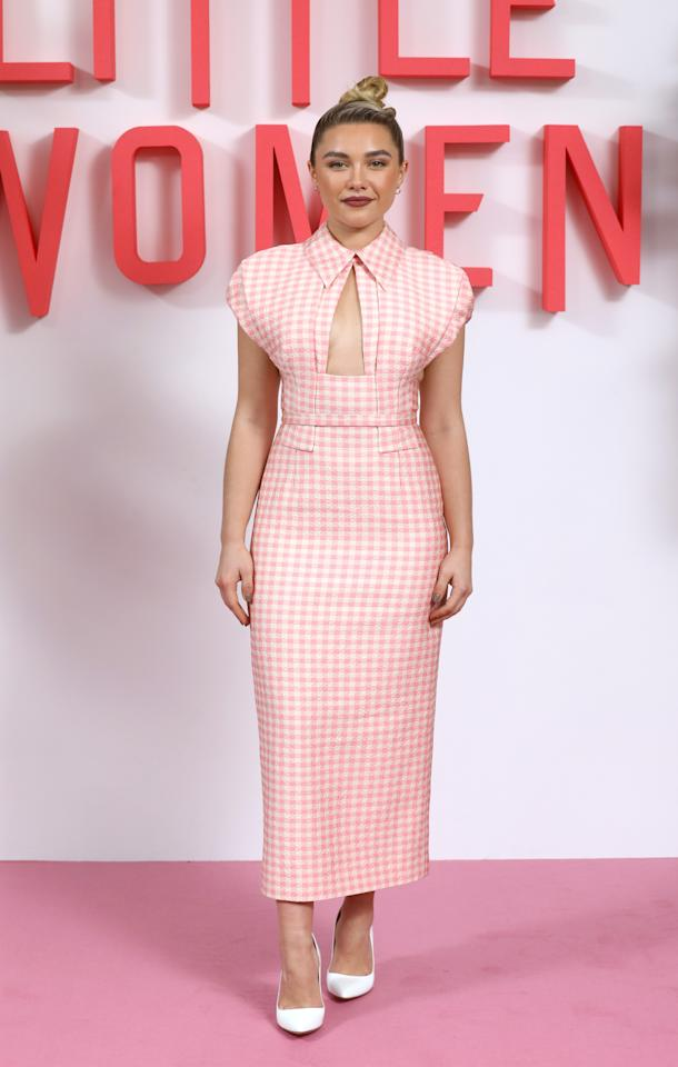 Wearing Emilia Wickstead. <em>[Photo: Getty]</em>