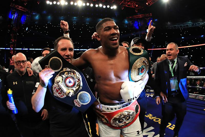 Bills to pay: Anthony Joshua owes £120 at his local laundrette: Getty Images
