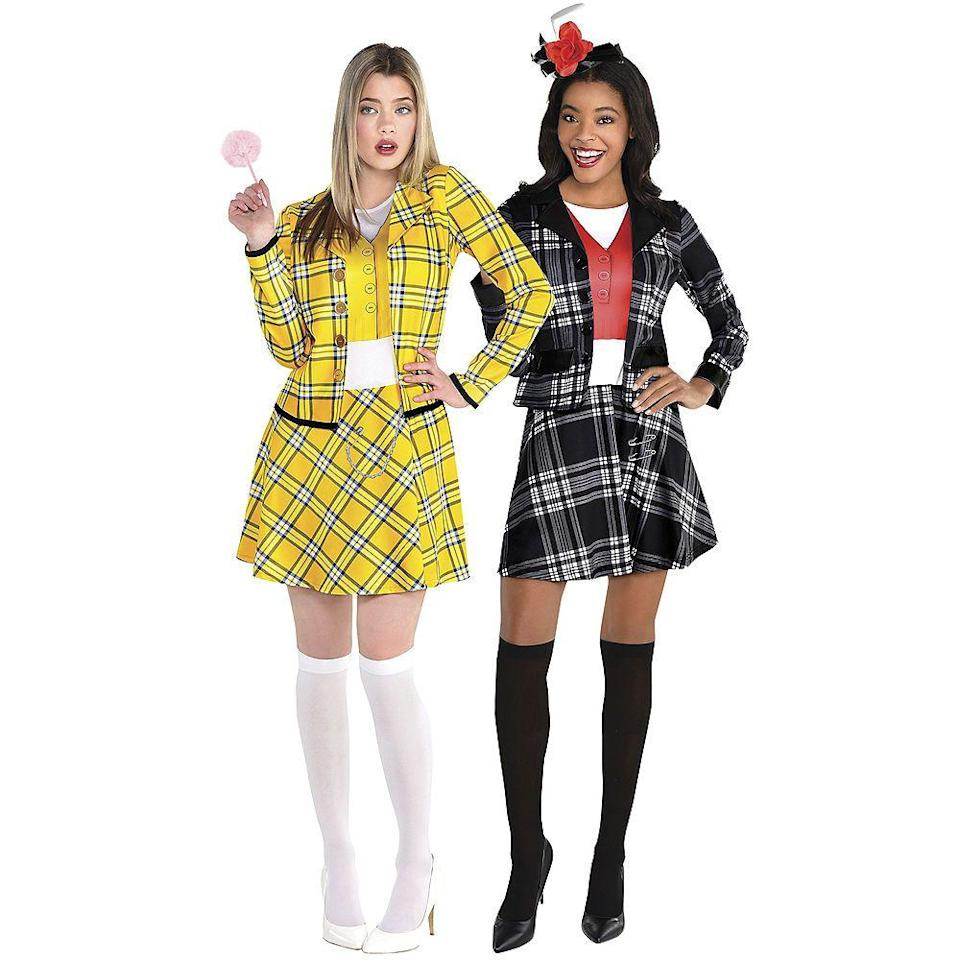 """<p>partycity.com</p><p><a href=""""https://www.partycity.com/adult-cher-and-dionne-couples-costume-accessory-kits---clueless-G842245.html"""" rel=""""nofollow noopener"""" target=""""_blank"""" data-ylk=""""slk:Shop Now"""" class=""""link rapid-noclick-resp"""">Shop Now</a></p><p>You're totally buggin' if you don't think this Cher and Dionne costume will kill it at Halloween. </p>"""