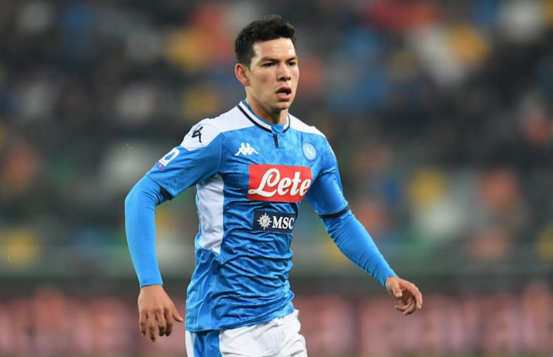 UDINE, ITALY - DECEMBER 07: Hirving Lozano of SSC Napoli looks on during the Serie A match between Udinese Calcio and SSC Napoli at Stadio Friuli on December 7, 2019 in Udine, Italy. (Photo by Alessandro Sabattini/Getty Images)