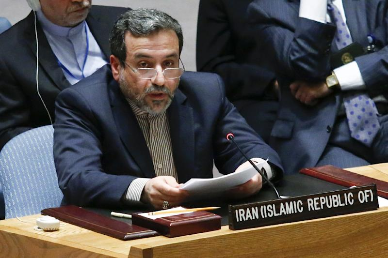 Deputy foreign minister of Iran Seyed Abbas Araghchi addresses the United Nations Security Council on September 19, 2014 at UN headquarters in New York City (AFP Photo/Eduardo Munoz Alvarez)