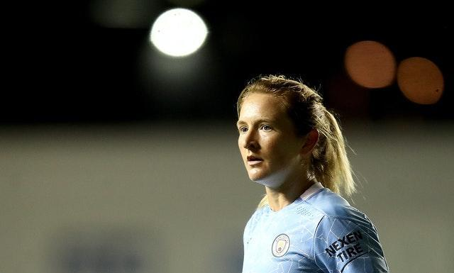 American World Cup winners Sam Mewis (pictured) and Rose Lavelle joined City in August (Martin Rickett/PA).