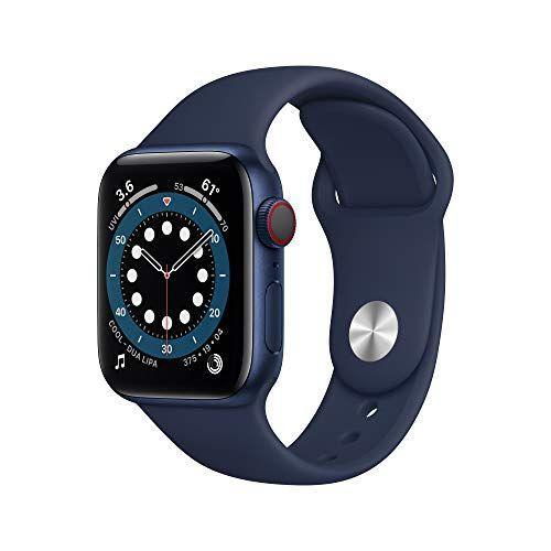 """<p><strong>Apple</strong></p><p>amazon.com</p><p><strong>$399.98</strong></p><p><a href=""""https://www.amazon.com/dp/B08J628R4C?tag=syn-yahoo-20&ascsubtag=%5Bartid%7C10049.g.36266914%5Bsrc%7Cyahoo-us"""" rel=""""nofollow noopener"""" target=""""_blank"""" data-ylk=""""slk:Shop Now"""" class=""""link rapid-noclick-resp"""">Shop Now</a></p><p>Save 10 percent on the latest iteration of the Apple Watch. It's a fan-fave for its easy-to-read screen, fall detection feature, and sleep, EKG, and blood oxygen measuring capabilities. Plus: It charges from zero to 100 percent in just 1.5 hours.</p>"""