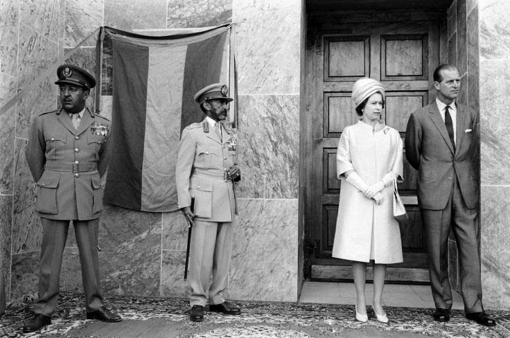 Not published in LIFE. Queen Elizabeth II, Prince Philip and Emperor Haile Selassie in Ethiopia in 1965.   Click here to see the full collection at LIFE.com…