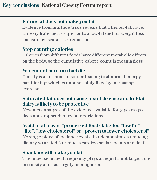 Key conclusions | National Obesity Forum report