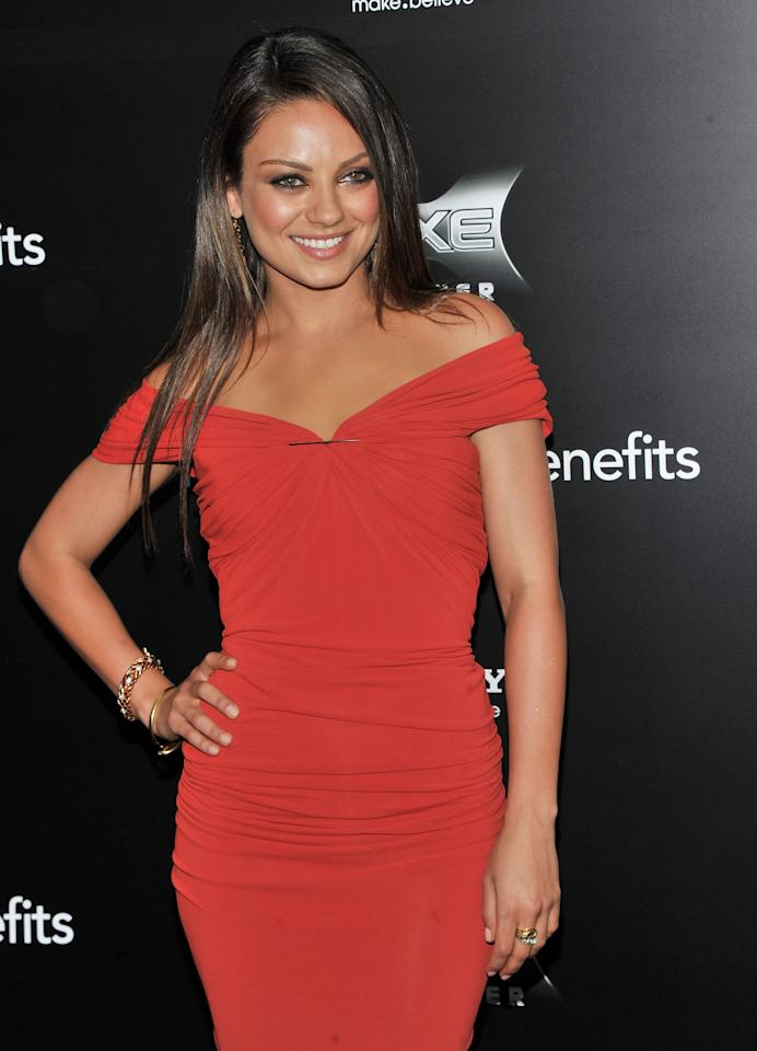 "NEW YORK, NY - JULY 18:  Mila Kunis attends the ""Friends with Benefits"" premiere at Ziegfeld Theater on July 18, 2011 in New York City.  (Photo by Stephen Lovekin/Getty Images)"