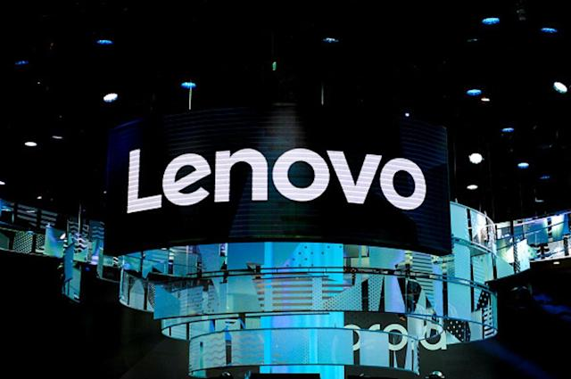 Lenovo logo at Lenovo pavilion, during the Mobile World Congress day 4, on March 1, 2018 in Barcelona, Spain. (Photo by Joan Cros/NurPhoto via Getty Images)