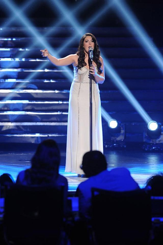 "Kree Harrison performs ""Angel"" on the Wednesday, May 15 episode of ""American Idol."""
