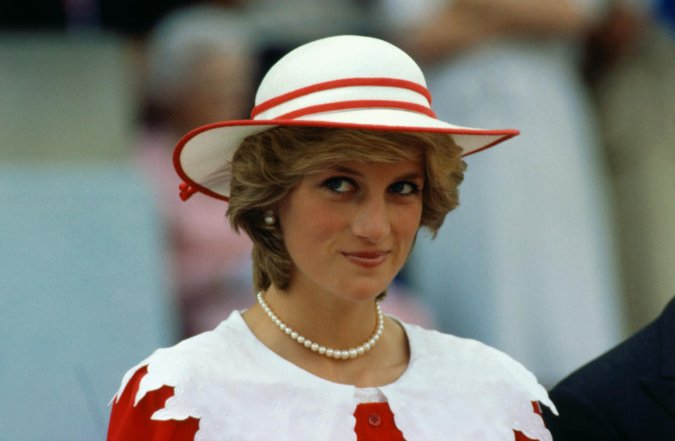 The famous Diana smirk. Photo: Getty