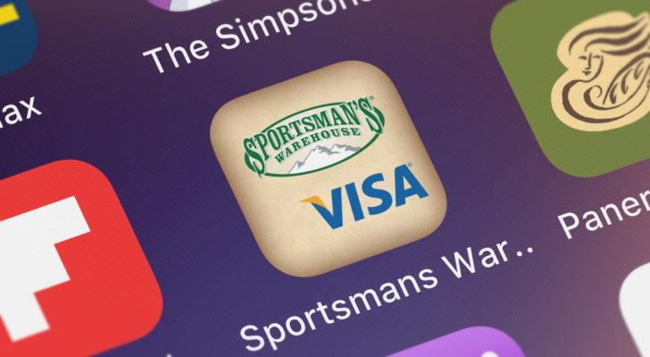 sportsman's warehouse (SPWH) app logo on a mobile phone screen