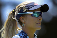 Lexi Thompson wals on the sixth green during the final round of the U.S. Women's Open golf tournament at The Olympic Club, Sunday, June 6, 2021, in San Francisco. (AP Photo/Jed Jacobsohn)