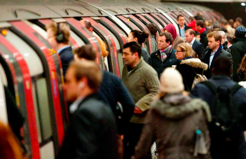 The stations with the most exposure to pollution were revealed as Oxford Circus, Waterloo and London Bridge (SWNS)