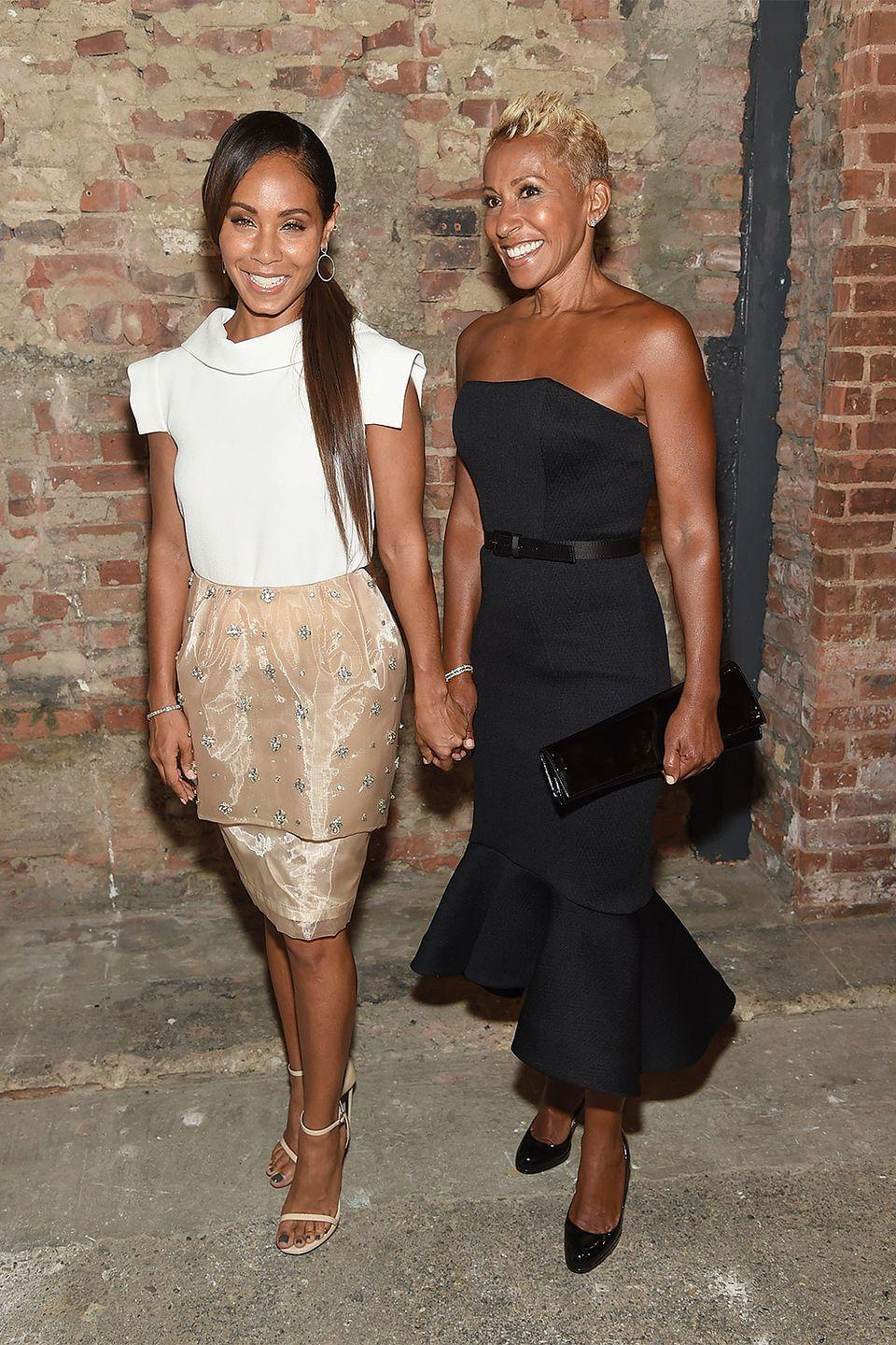 <p>Adrienne Banfield-Jones and daughter Jada Pinkett Smith could easily pass as sisters, if not twins. The two share a luminous smile and bright eyes. </p>