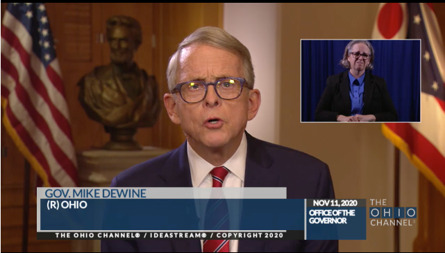 Gov. Mike DeWine speaks to Ohioans on Wednesday about rising COVID-19 cases.