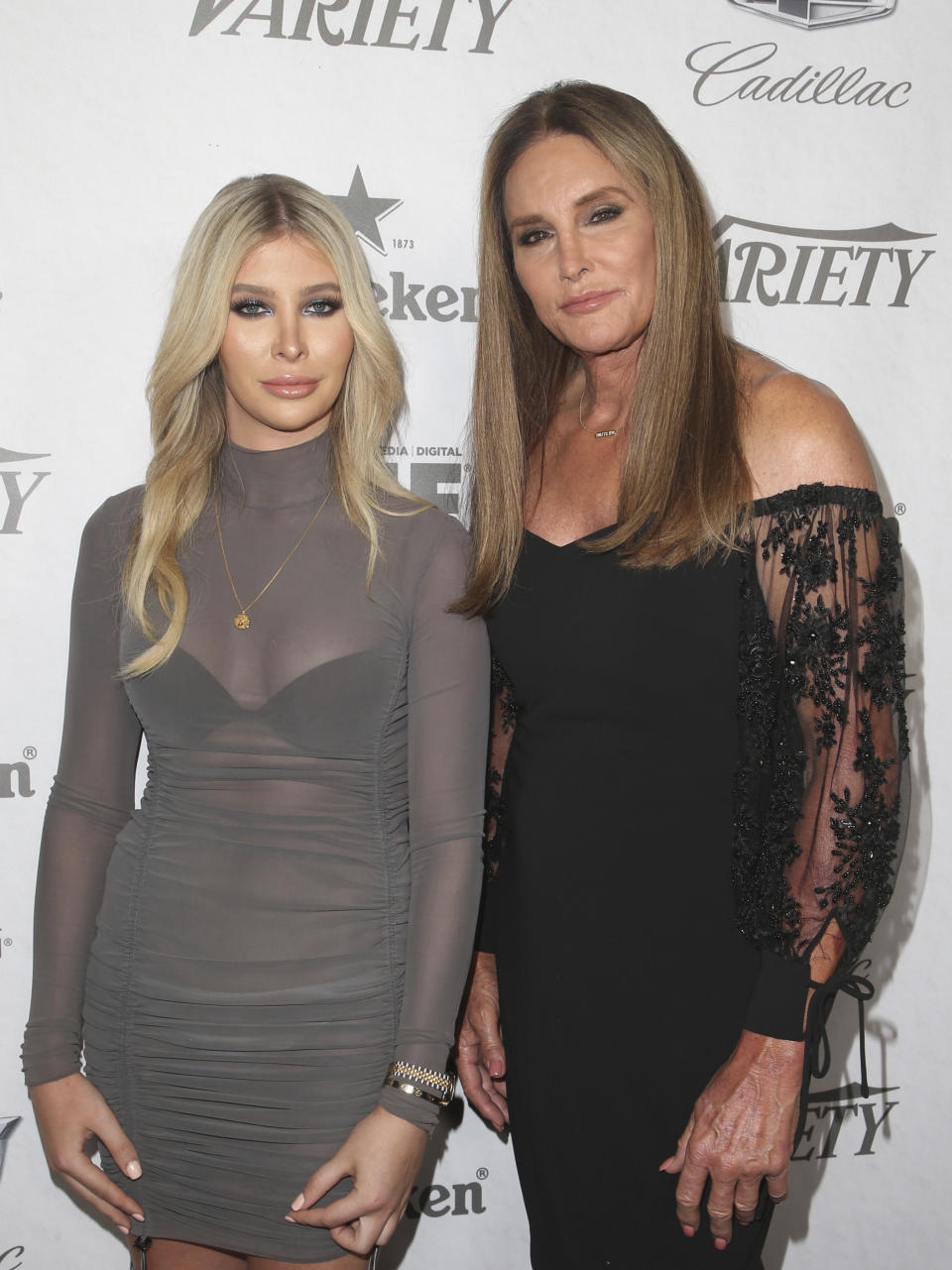 WEST HOLLYWOOD, CA - SEPTEMBER 15: Sophia Hutchins, Caitlyn Jenner, at the Variety and Women in Film 2018 Television Nominees Celebration, sponsored by Cadillac and Heineken, at Cecconiís on September 15, 2018 in West Hollywood, California. Credit: Faye Sadou/MediaPunch /IPX