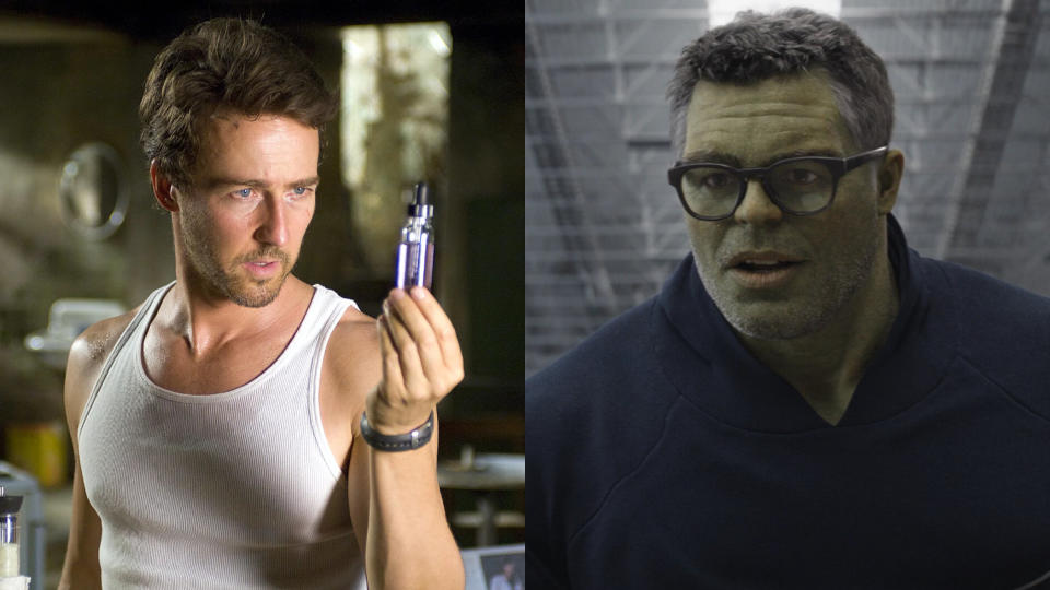 Mark Ruffalo took over from Edward Norton in the Marvel Cinematic Universe. (Credit: Marvel/Universal/Disney)
