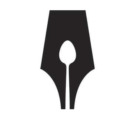 """<div class=""""caption-credit"""">Photo by: Guild of Food Writers</div>The simple black-and-white Guild of Food Writers logo manages to merge symbols of both a pen and a spoon. With that, it fulfills Adams's top rule for what makes a good logo: """"Good logos identify, they do not describe."""" <br>"""