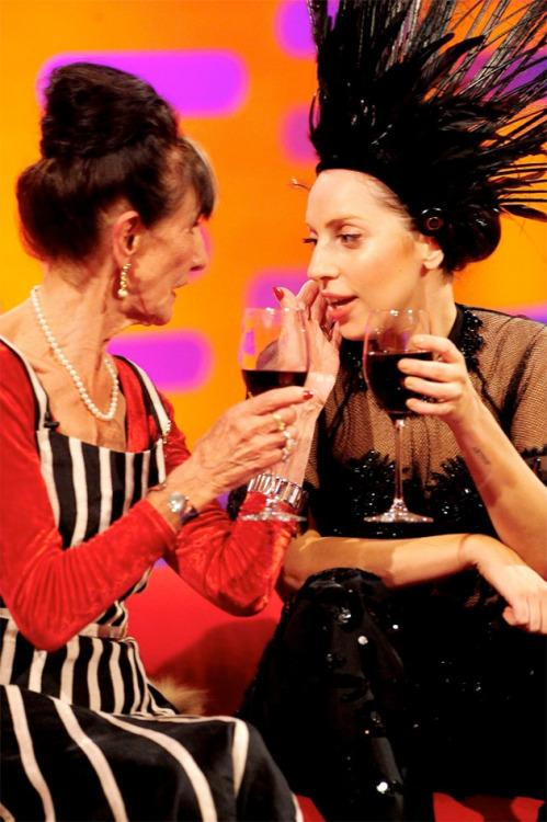 <p>Lady Gaga hit it off with EastEnders' legend June Brown when they met on The Graham Norton Show back in 2013.<br />The pair kept in touch and Gaga invited June over to her London hotel for afternoon tea the next month, also inviting her to be her plus one at her London performances.<br />It is thought that June, 90, and Gaga are sure to keep in touch whenever the singer is in the UK.</p>