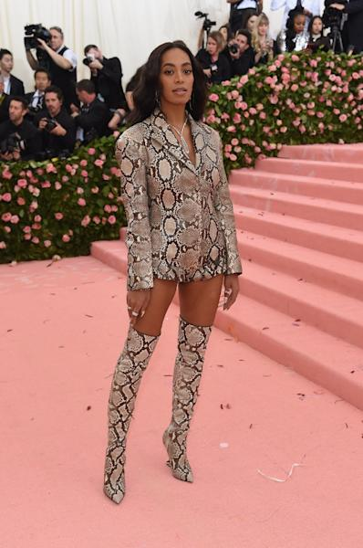 Solange Knowles is among the artists promoting the celebration of black cowboy culture in her work (AFP Photo/Jamie McCarthy)