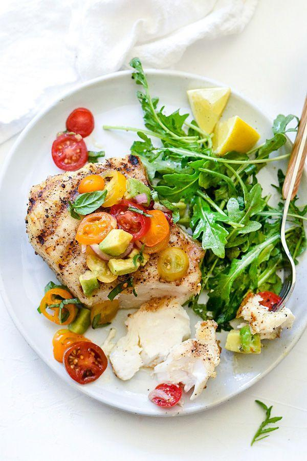 "<p><span>Perfect for your next date night.</span></p><p><span>Get the recipe from </span><a href=""http://www.foodiecrush.com/grilled-halibut-with-tomato-avocado-salsa/"" rel=""nofollow noopener"" target=""_blank"" data-ylk=""slk:Foodie Crush"" class=""link rapid-noclick-resp"">Foodie Crush</a><span>.</span><br></p>"