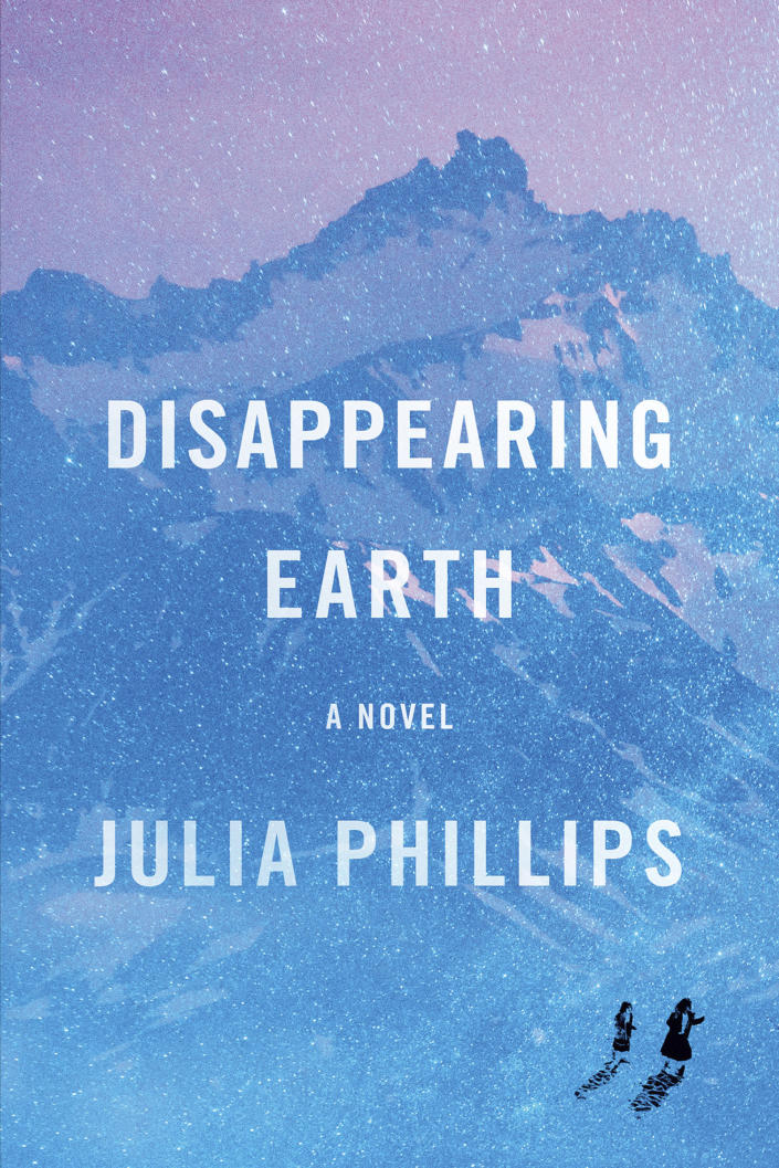 """This cover image released by Knopf shows """"Disappearing Earth,"""" by Julia Phillips. The novel is among this year's finalists for the 70th annual National Book Awards. The winners will be announced Nov. 20 at a benefit dinner presented by the National Book Foundation in New York. (Knopf via AP)"""