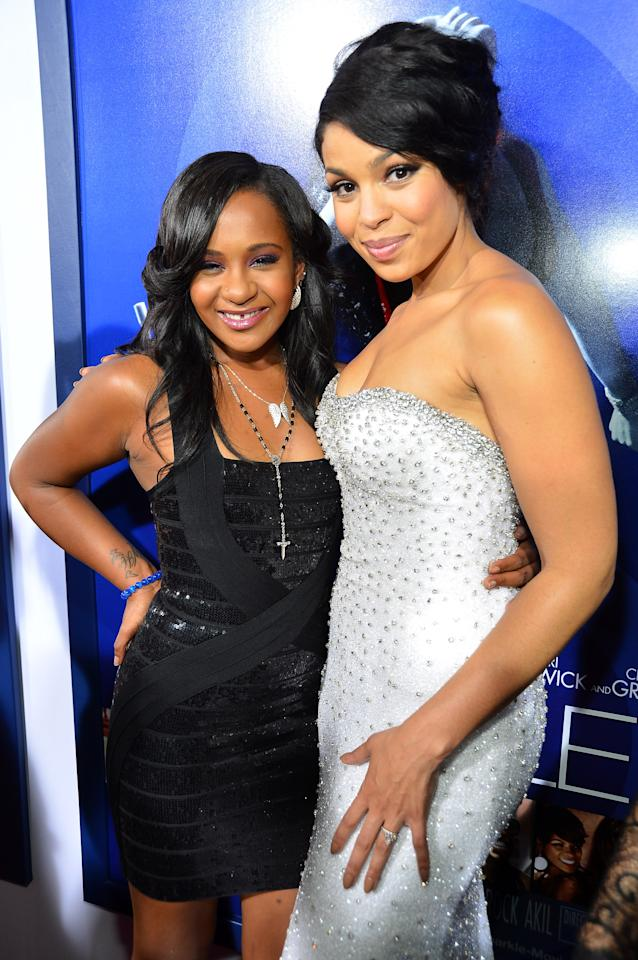 "HOLLYWOOD, CA - AUGUST 16:  Bobbi Kristina Brown and actress/singer Jordin Sparks arrive at Tri-Star Pictures' ""Sparkle"" premiere at Grauman's Chinese Theatre on August 16, 2012 in Hollywood, California.  (Photo by Frazer Harrison/Getty Images)"