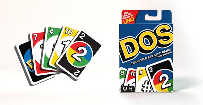 Watch out, UNO. DOS is coming for your card game crown.