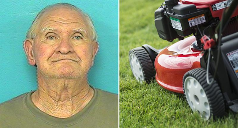 Man Attempting to Kill Son with Chainsaw Gets Run over by Mower