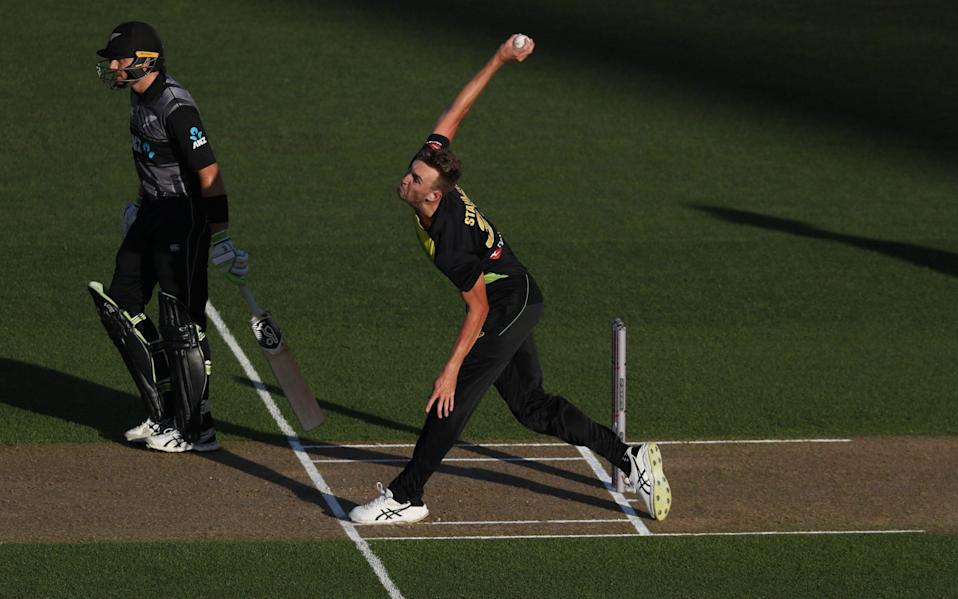 Australia's Billy Stanlake bowls during the Twenty20 Tri Series international cricket match between New Zealand and Australia at Eden Park —County Championship 2021 predictions and your club-by-club guide - Michael Bradley/GETTY IMAGES