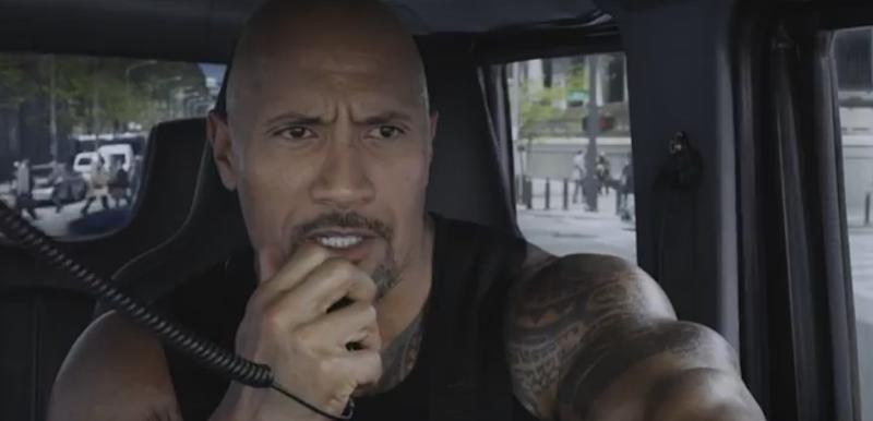 Dwayne 'The Rock' Johnson in 'The Fate of the Furious' (credit: Universal)
