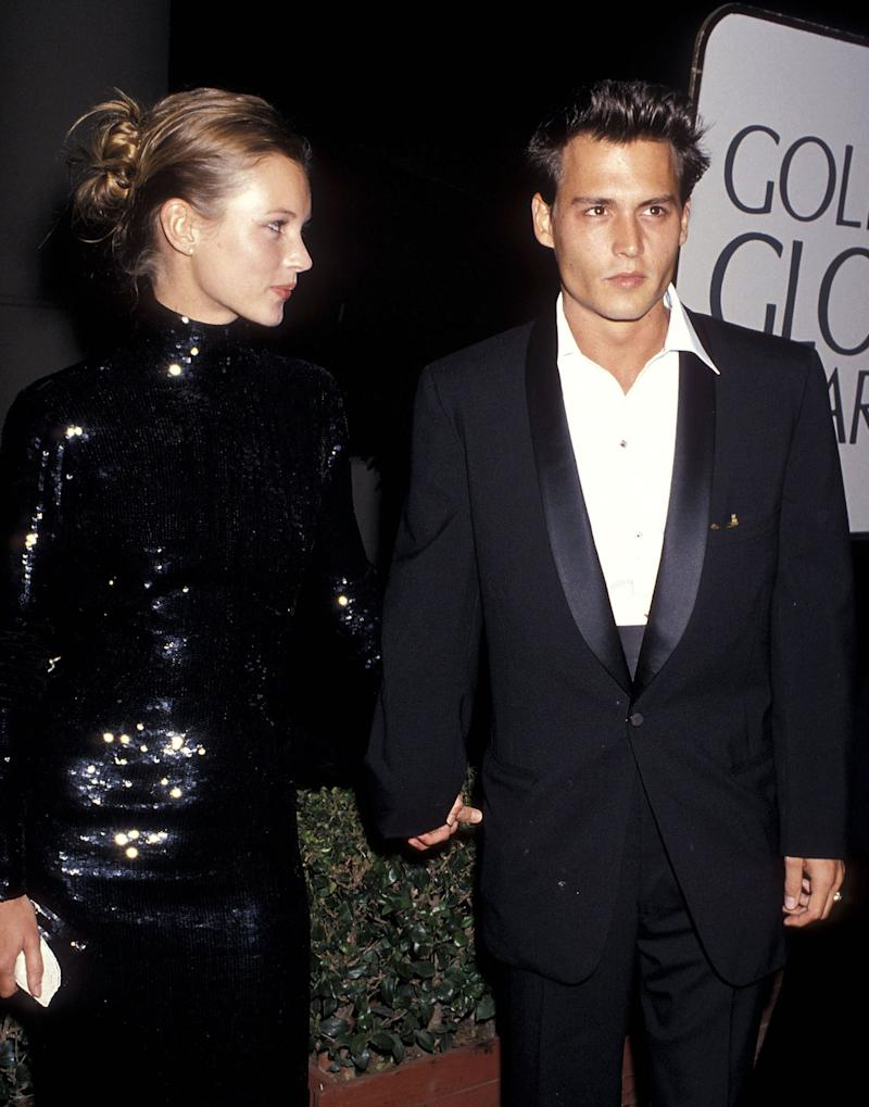 Kate Moss (with Johnny Depp), 1995