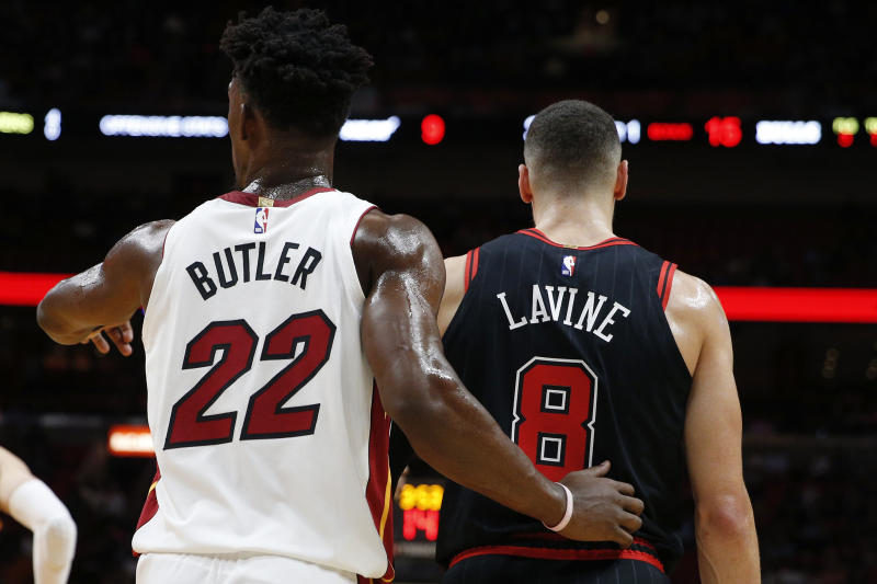 The Bulls turned Jimmy Butler into Zach LaVine, Lauri Markkanen and Kris Dunn, for better or worse. (Michael Reaves/Getty Images)