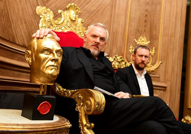 Greg Davies and Alex Horne during a UKTV Live season launch at Claridge's hotel, London.
