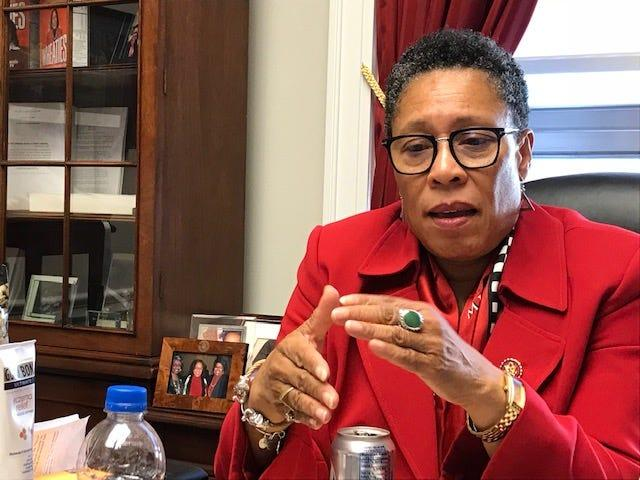 Rep. Marcia Fudge, D-Ohio, talked about her plans for a House subcommittee on elections in her office Jan. 11, 2018.
