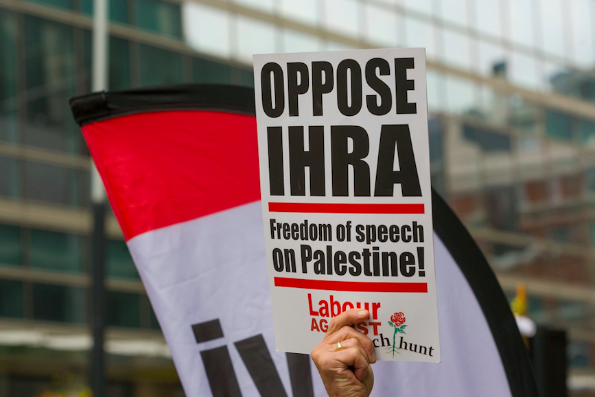 <em>Labour voted to adopt the IHRA anti-Semitism definition in full on Tuesday despite protests from Corbyn supporters (Rex)</em>