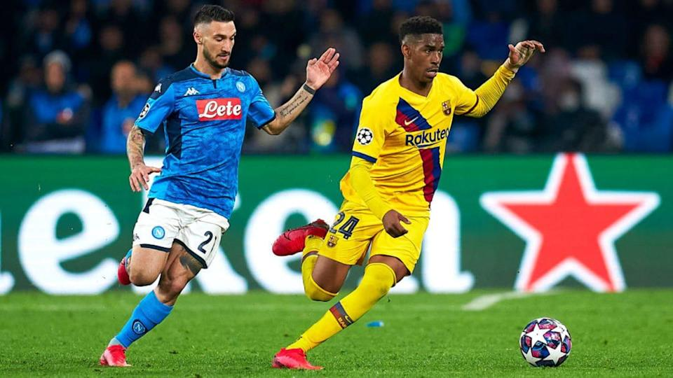 Matteo Politano, Junior Firpo   Quality Sport Images/Getty Images