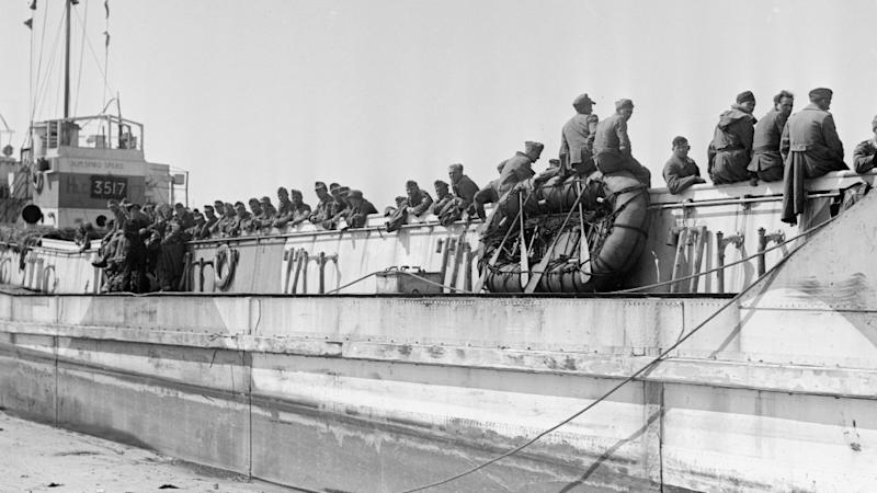 The landing craft pictured during the D-Day landings. (JustGiving/National Museum of the Royal Navy)