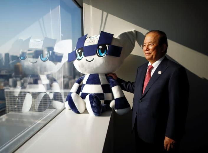 Toshiro Muto, Tokyo 2020 Organizing Committee CEO, poses for a photograph during an interview with Reuters in Tokyo