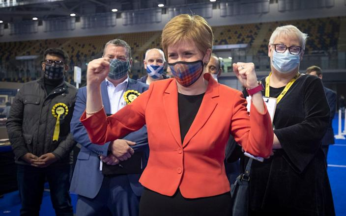 Referring to a second independence referendum, Nicola Sturgeon said she would press for the vote 'when the time is right'