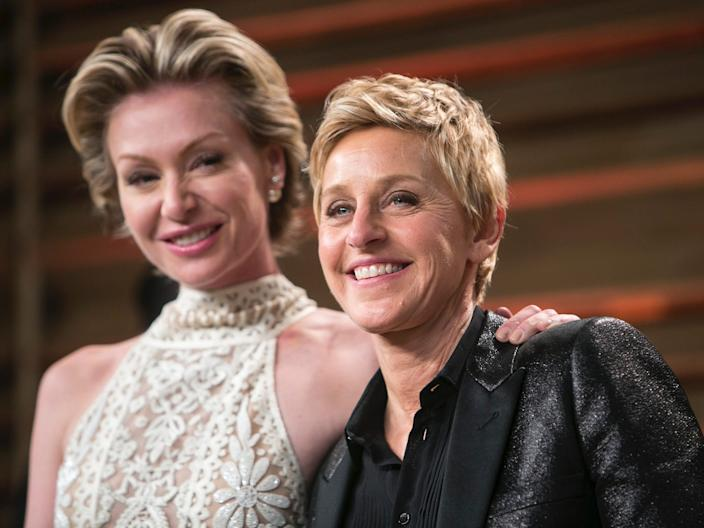 Portia de Rossi and DeGeneres attended the 2014 Oscars together.