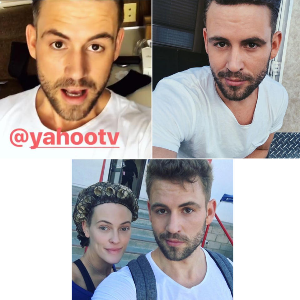 <p>Good morning! Are you guys ready for us to take over the Yahoo TV Instagram account today? — @petamurgatroyd @NickViall #DWTS#TeamBabyGotBach </p>