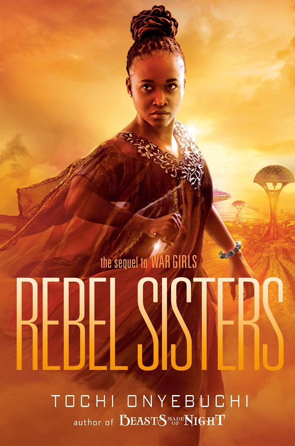 <p><span><b>Rebel Sisters</b></span> by Tochi Onyebuchi is the highly anticipated sequel to <b>War Girls</b>. Set five years after the end of the Biafran War, Ify is now a medic living in the Space Colonies, but when a mysterious illness begins affecting children, Ify is drawn back to Nigeria and all of the people she left behind. </p> <p><em>Out Nov. 17</em></p>