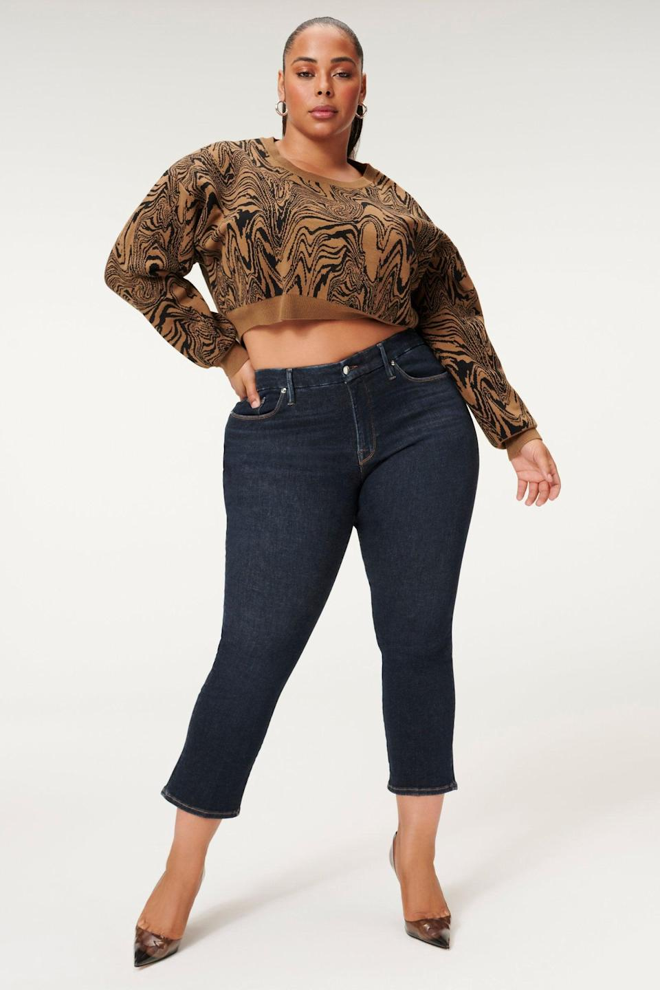 <p>These <span>Good American Always Fits Good Straight</span> ($149) are comfortable and flattering. The brand's one size fits four Always Fits collection means that you'll always be comfortable, and the jeans can seamlessly adapt to any changes in your body.</p>
