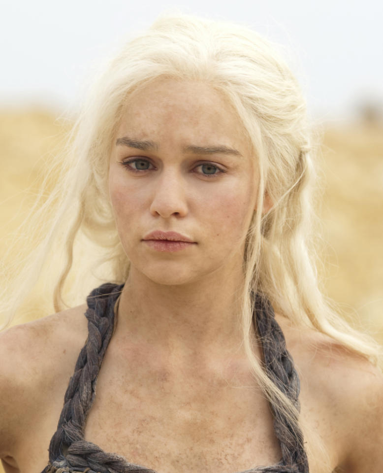 "<b>Emilia Clarke, ""Game of Thrones"" (Supporting Actress, Drama) </b><br><br>HBO's sweeping fantasy earned a whopping 13 Emmy nominations last year, but only one for acting (Peter Dinklage). We want to see that remedied this year with a nod for the stunning Emilia Clarke, a previously-unknown English actress who absolutely commands the screen as the fierce and feisty Mother of Dragons, Daenerys Targaryen. Among a massive cast of characters, Clarke always stands out; we're hoping to see much more of Dany and her dragons in Season 3."