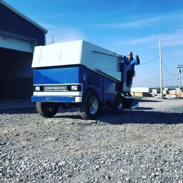 The community of Sanikiluaq, Nunavut, just got its first ever Zamboni. (Submitted by Quentin Sala - image credit)