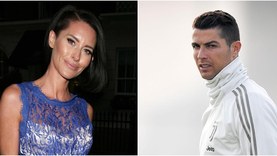 English model Jasmine Lennard, left, has delivered more ugly allegations against Cristiano Ronaldo. (Getty/Yahoo)