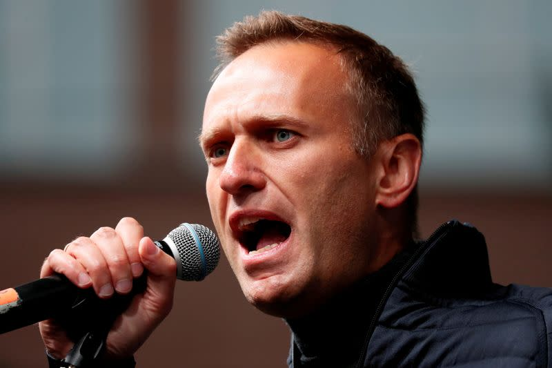 FILE PHOTO: Russian opposition figure Alexei Navalny pictured in 2019