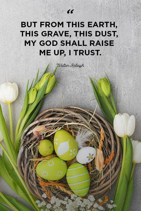 """<p>""""But from this earth, this grave, this dust, my God shall raise me up, I trust.""""</p>"""